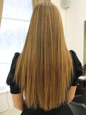 Кончики волос ровные фото